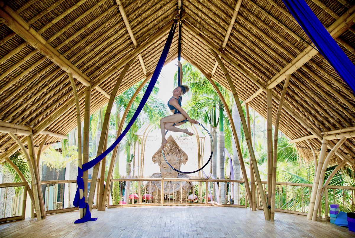 Bali Retreat Aerial Silks Bamboo Yoga Nature Luxury Health MansionB