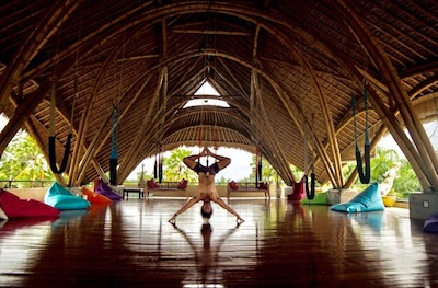 Fly Shala Aerial Ubud Bali Circus Mansion Retreat